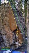 Rock Climbing Photo: Jim's Arete, V4.