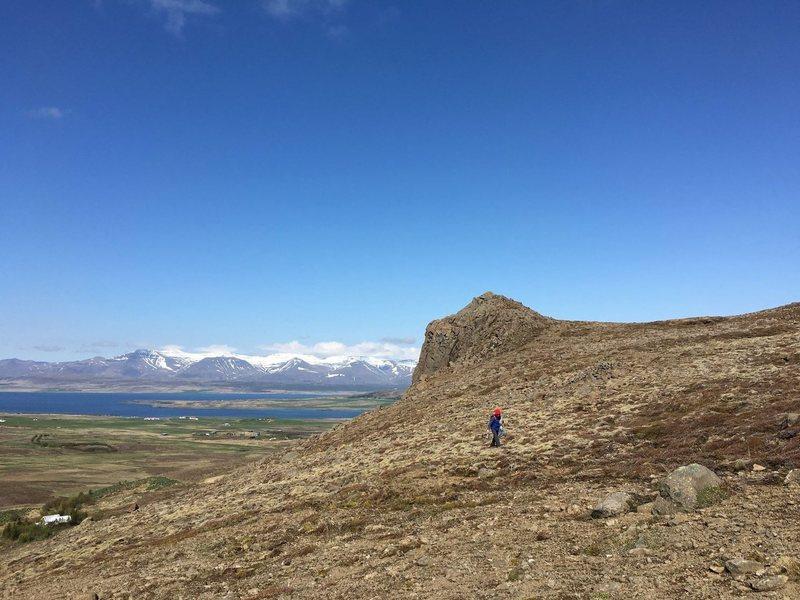 Rock Climbing Photo: Valshamar crag straight ahead.