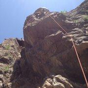 Rock Climbing Photo: Brian nearing the top.