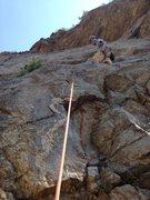 Rock Climbing Photo: Brian near the bottom.
