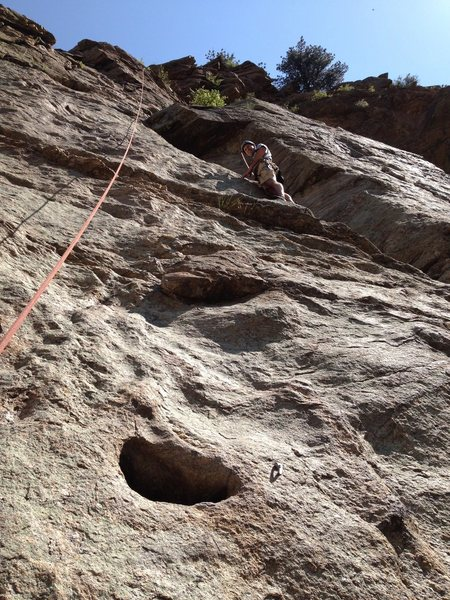 Rock Climbing Photo: Brian low on the route.