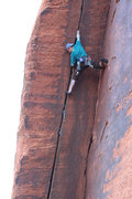 Rock Climbing Photo: Me, Going for it in onsight mode