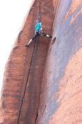 Rock Climbing Photo: Catching a stem before the last hard bit.
