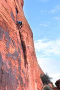 Rock Climbing Photo: The last bit of cool tricky climbing
