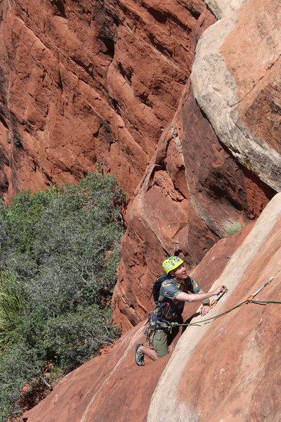 Rock Climbing Photo: 1st pitch slab