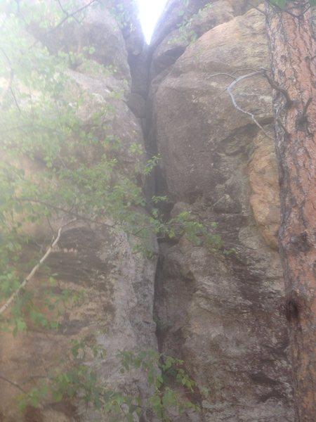 Rock Climbing Photo: Miah's Chimney, 5.7
