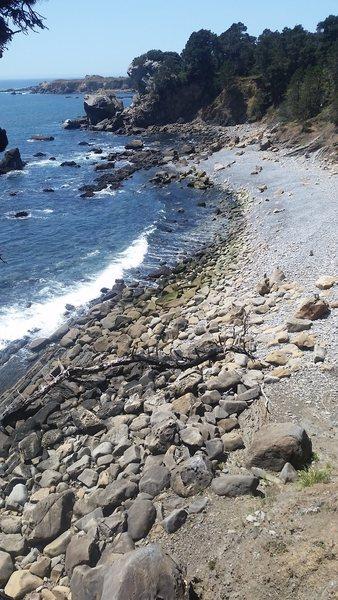 Rock Climbing Photo: Beach approach
