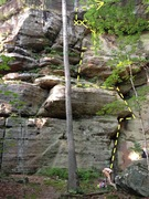 Rock Climbing Photo: My belay station might not have been ideal.
