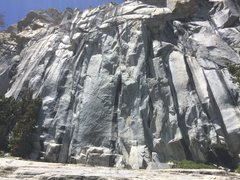 Rock Climbing Photo: Line is on the right side of the photo.  Looks bur...