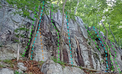 Rock Climbing Photo: Jersey Volunteers - SW view of R side overview of ...
