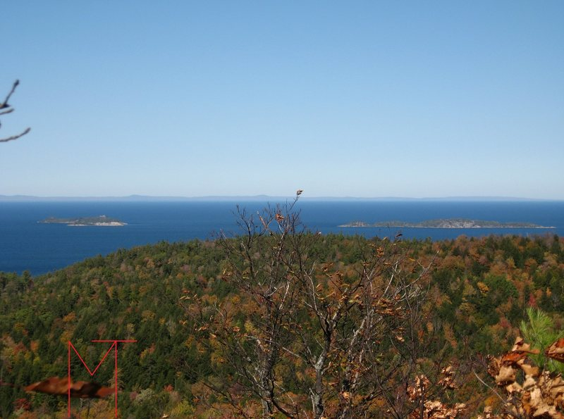 One of Michigan's best, little known views, Keweenaw Peninsula beyond Huron Island(s)NWR.