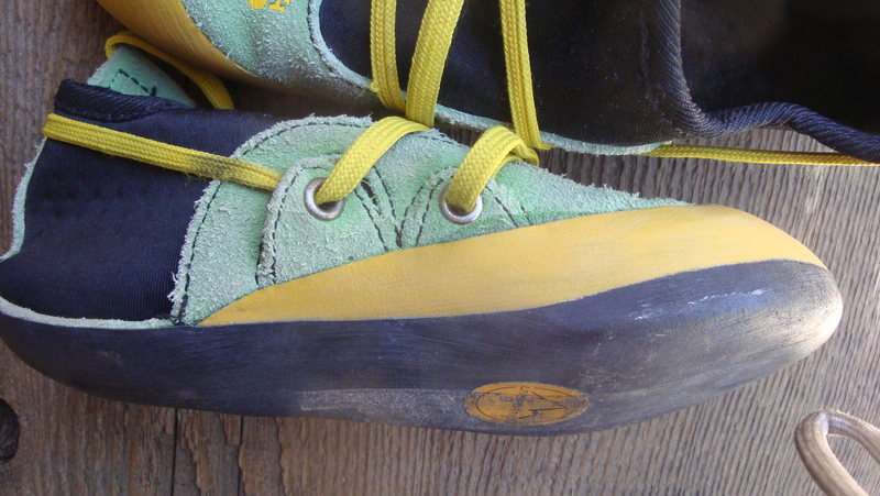 Rock Climbing Photo: Lots of sole life for handing the shoes down to th...