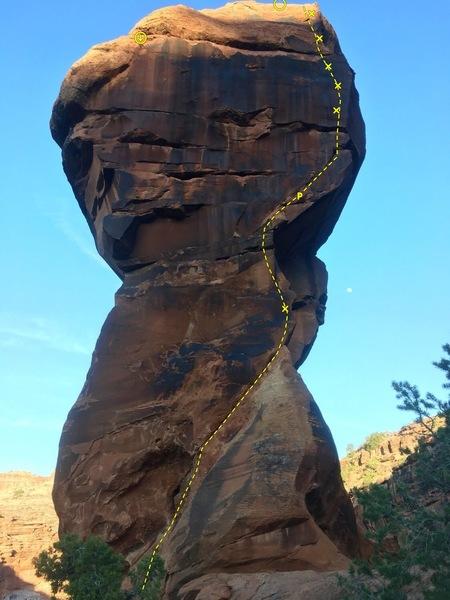 Rock Climbing Photo: The Huntsman Tower 5.10 C2