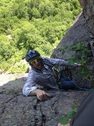 Rock Climbing Photo: Jake with the latest north woods climbing attire.