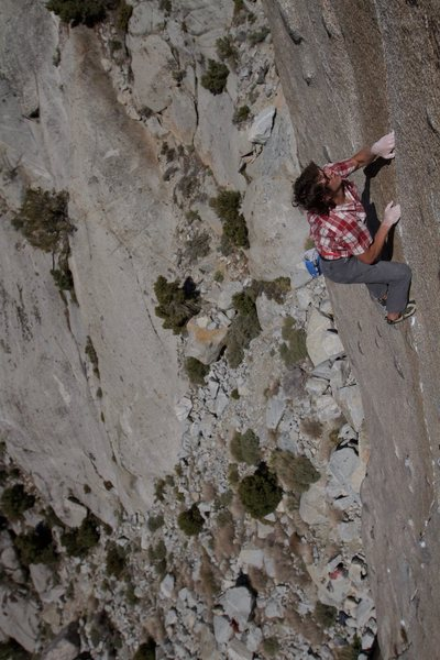 Rock Climbing Photo: Soloing Bony Fingers. Photo by Jason Hudson.