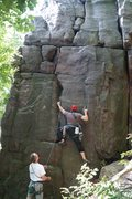 Rock Climbing Photo: first few moves