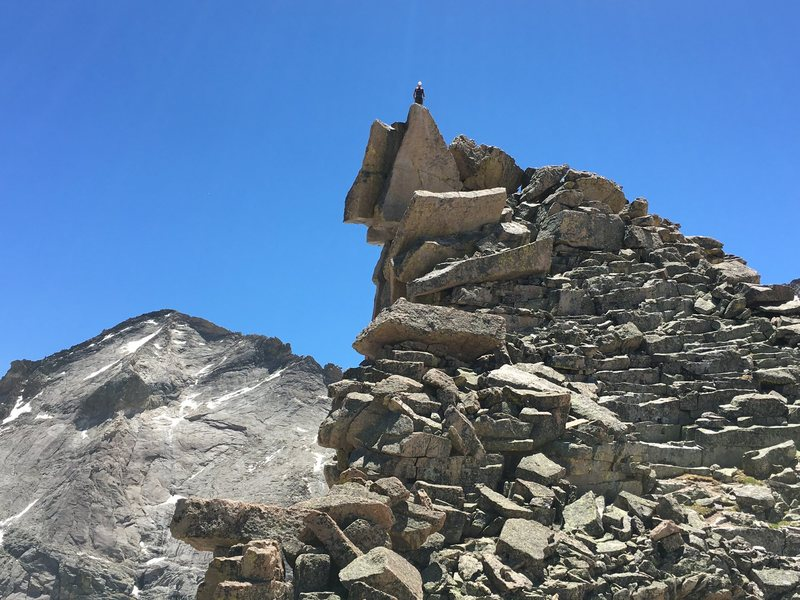 Rock Climbing Photo: The summit of Spearhead.