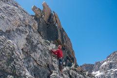 Rock Climbing Photo: Final pitch up the North Ridge.