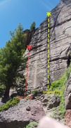 Rock Climbing Photo: Whip or Will and Whipping Post. The bolts are camo...