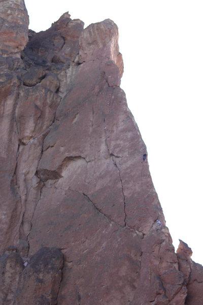 Rock Climbing Photo: Tyler McRae on Risky Pass.