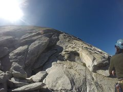 Rock Climbing Photo: Base of P1 on South Crack