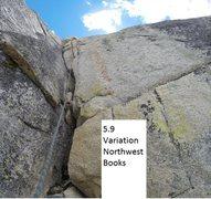 Rock Climbing Photo: 5.9 Variation Northwest Books