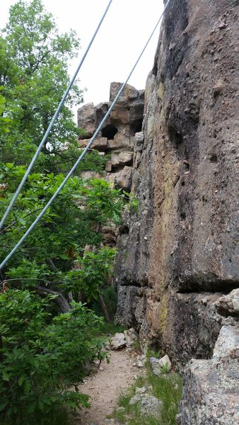 Rock Climbing Photo: Middle section of C-Section. Looking North from Ra...