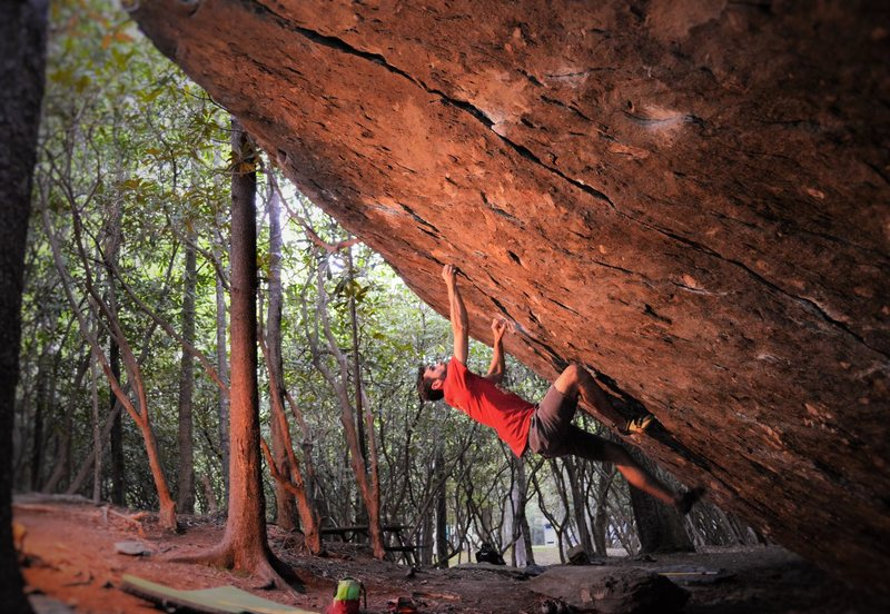 "Rock Climbing Photo: ""Pastafarian""(V9/10)"