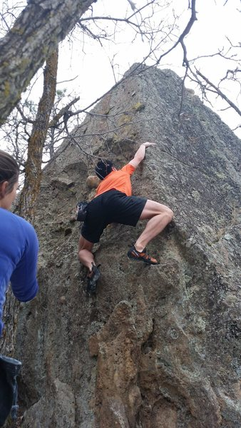 Rock Climbing Photo: Chris Baker climbs North Face of No Approach.