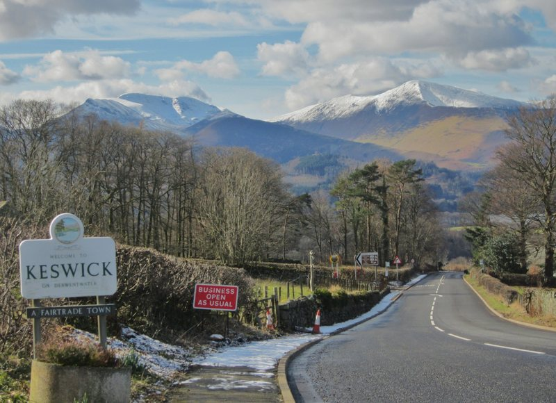 Entering town of Keswick  English Lake District