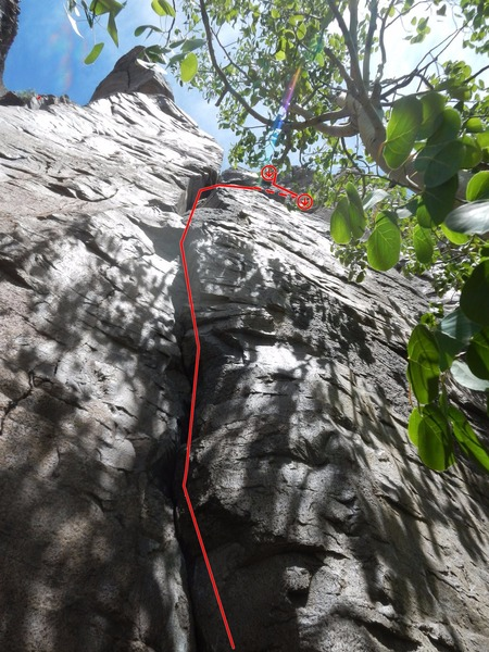Rock Climbing Photo: Topo for Furious George