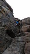 Rock Climbing Photo: Chris Baker climbing Caramel.