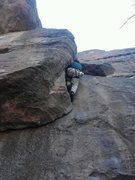 Rock Climbing Photo: Around the tough stuff.  Beta: fight the urge and ...