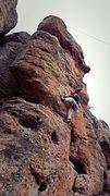Rock Climbing Photo: John - somewhere between peel and shake.