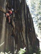 Rock Climbing Photo: Emma on the lead.