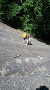 Rock Climbing Photo: Zackary's first lead