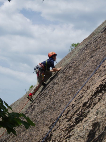 Rock Climbing Photo: OW Headed for B#2 on Merlin