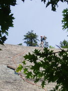 """Rock Climbing Photo: OW Gives a """"Thumbs UP"""" at P1 Belay for &..."""