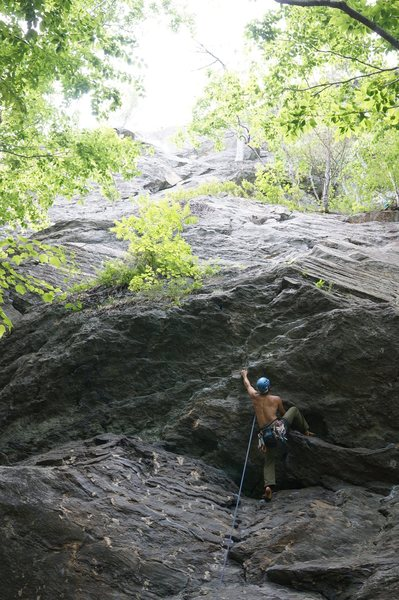 Rock Climbing Photo: Getting into the business.