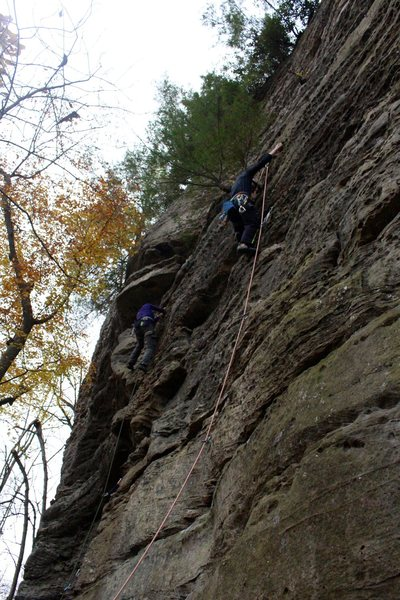 Climbing Lucy Goosey in the Fall of 2014