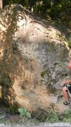 Rock Climbing Photo: Right hand pinch, find left foot