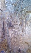 Rock Climbing Photo: Brett J. on Juicebox Cowboy belayed by Michael Vos...