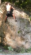 Rock Climbing Photo: Right hand bump
