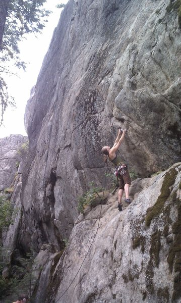 "Rock Climbing Photo: Heather Salo on ""Slick Shoes"""