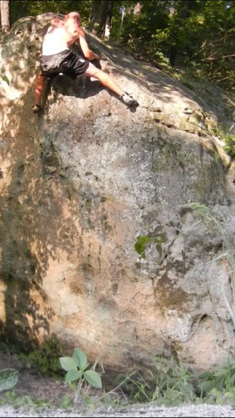 Rock Climbing Photo: Right foot up, left hand up (crimp)