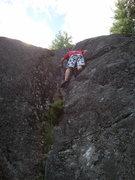 Rock Climbing Photo: Tim finishing up the Green Line.