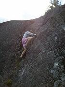 Rock Climbing Photo: Jenkins halfway up the Green Line