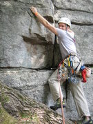 Rock Climbing Photo: First ever lead at the Gunks. Double Chin.