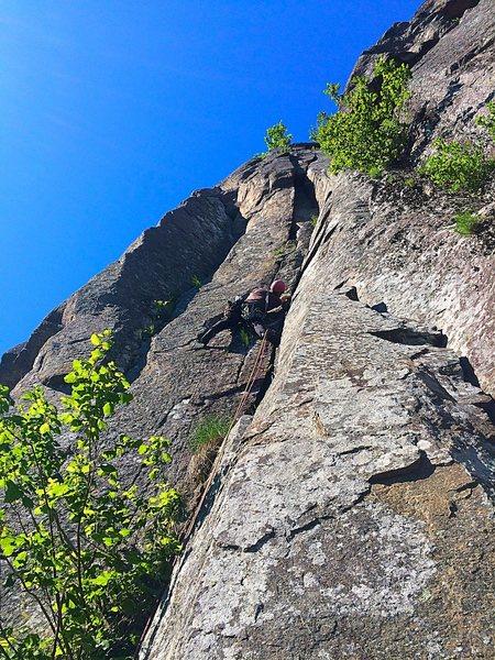 Rock Climbing Photo: Simon on p2