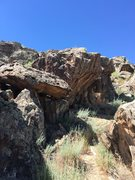 Rock Climbing Photo: This is view of the boulder as you approach it fro...